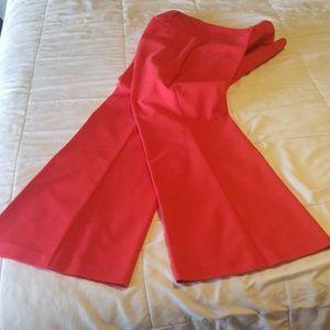 Red 7th Ave NY & CO extra flare dress pants